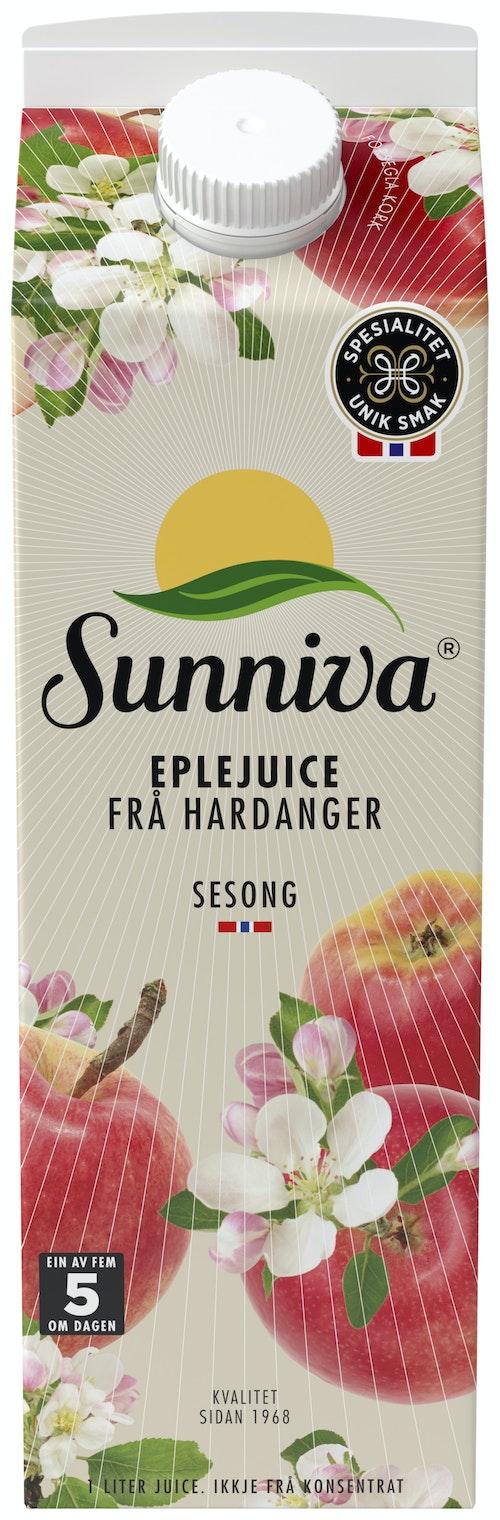 Sunniva Presset Eplejuice Fra Hardanger, 1 l
