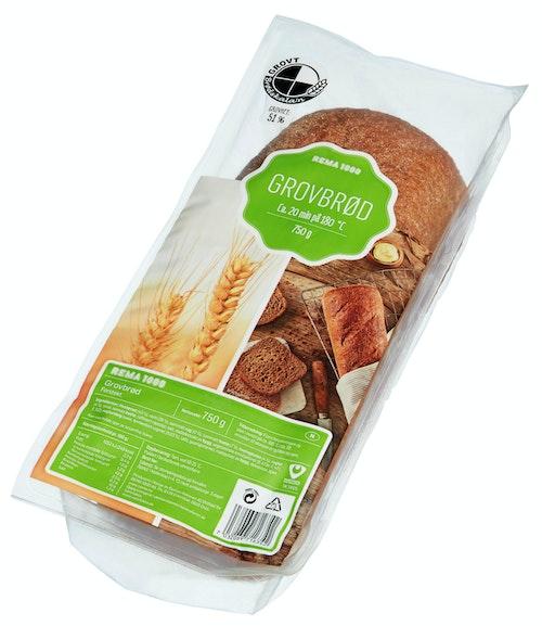 REMA 1000 Grovbrød, Lettstekt 750 g