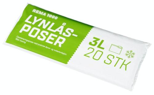 REMA 1000 Lynlåspose 3 l, 20 stk