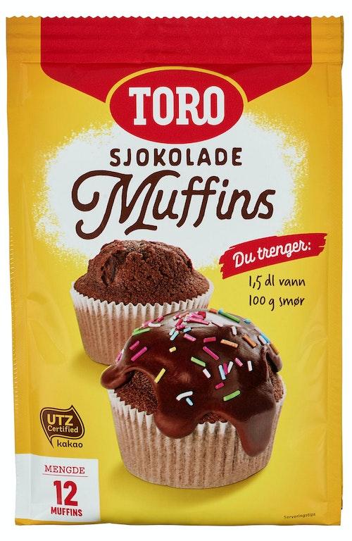 Toro Muffins Mix Sjokolade, 335 g