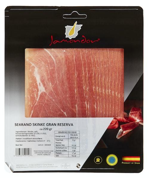 Jamondul Serrano Gran Reserva 220 g