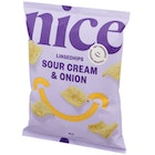 Nice Linsechips Sour Cream & Union