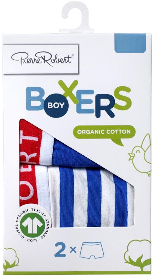 Pierre Robert Cotton Boxer Kids Boy Stripe, str. 98-104, 2 stk