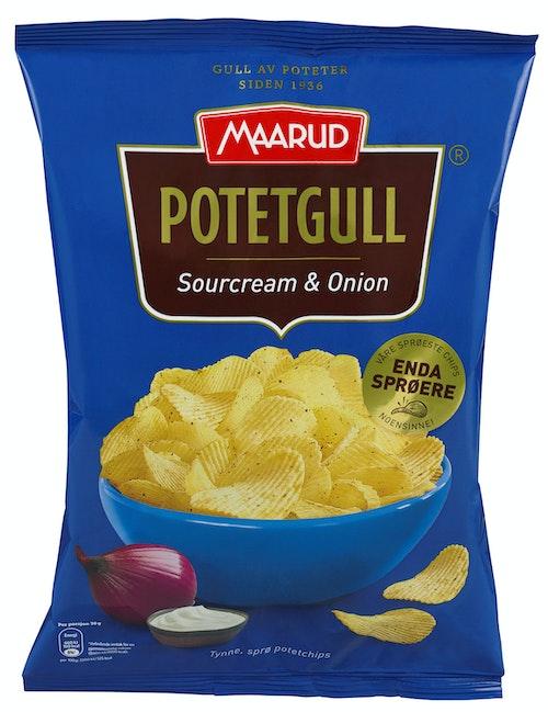 Maarud Potetgull Sourcream & Onion 200 g