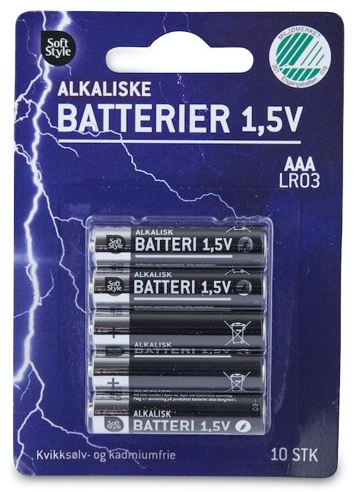 Soft Style Batterier AAA Alkaliske, 10 stk