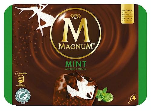 Magnum Magnum Mint Iskrem 4 x 100ml, 400 ml