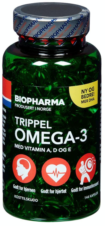 Biopharma Trippel Omega-3 144 stk