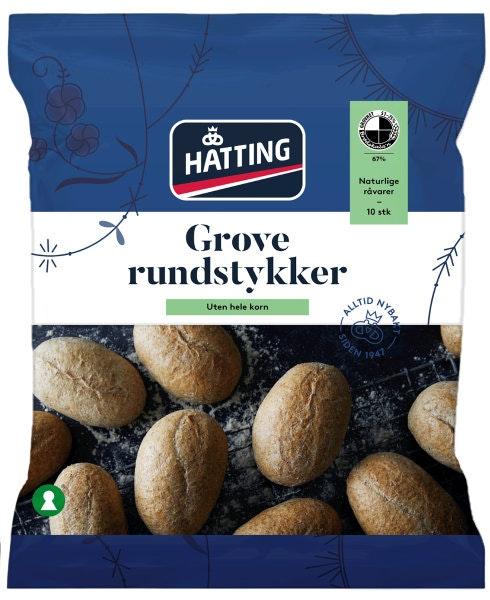 Hatting Grove Rundstykker 10stk, 600 g