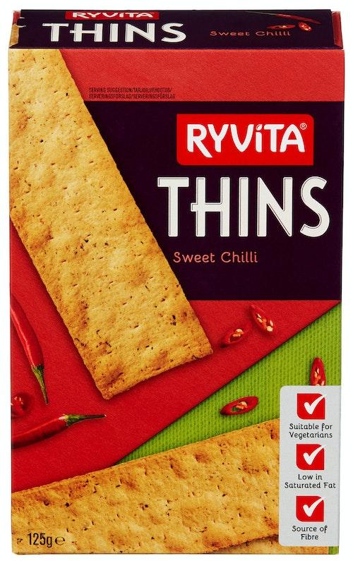 Ryvita Thins Sweet Chilli 125 g