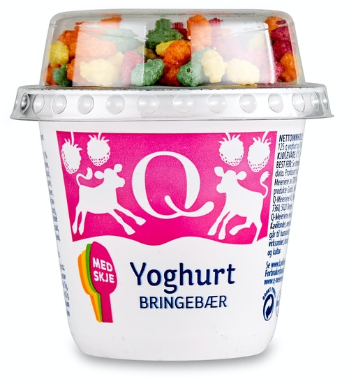 Q-meieriene Q Barneyoghurt Bringebær 135 g