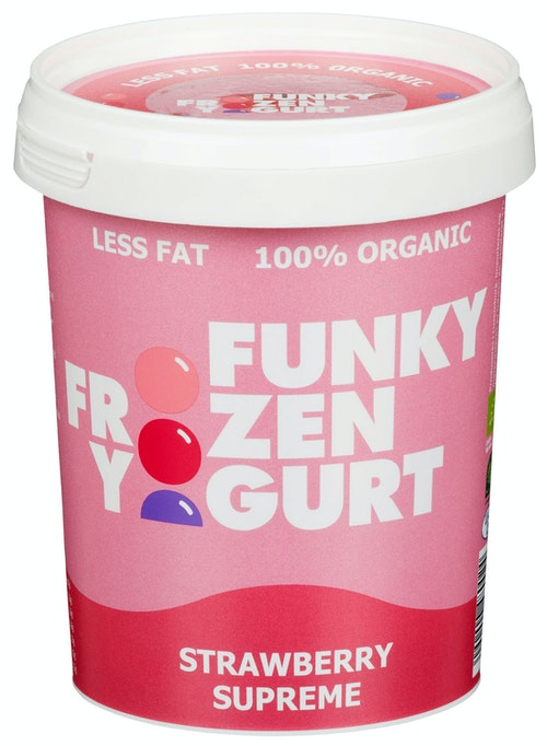 Funky Frozen Yogurt Strawberry Supreme Økologisk, 0,5 l