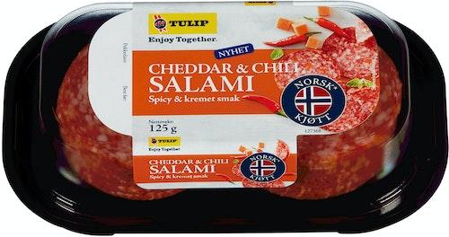 Tulip Cheddar Og Chili Salami 120 g