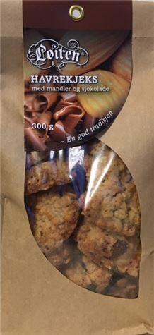 Løiten Havrekjeks med Mandel & Sjokolade 300 g
