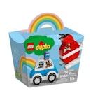 LEGO DUPLO Brannhelikopter og politibil