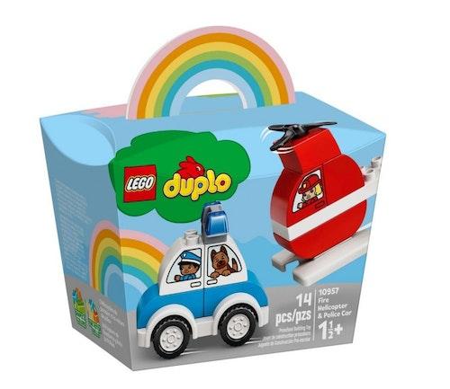 LEGO LEGO DUPLO Brannhelikopter og politibil 1 stk