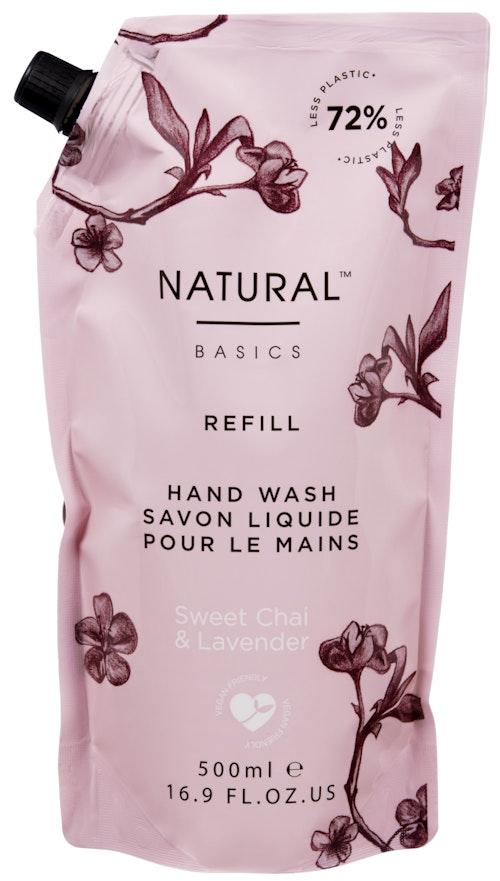 Natural Basics Refill Hand Wash Sweet Chai & Lavender 500ml, 500 ml