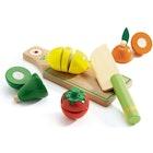 Sett med Frukt og Grønt i Tre