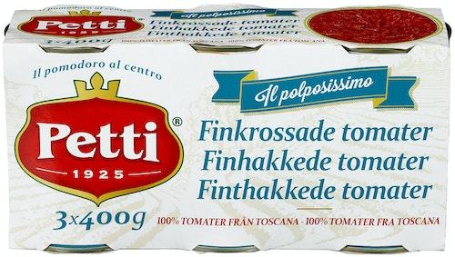 Petti Finhakkede Tomater 3 x 400g, 1200 g