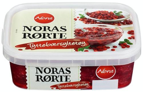 Nora Tyttebærsyltetøy Rørte, frosset, 280 g