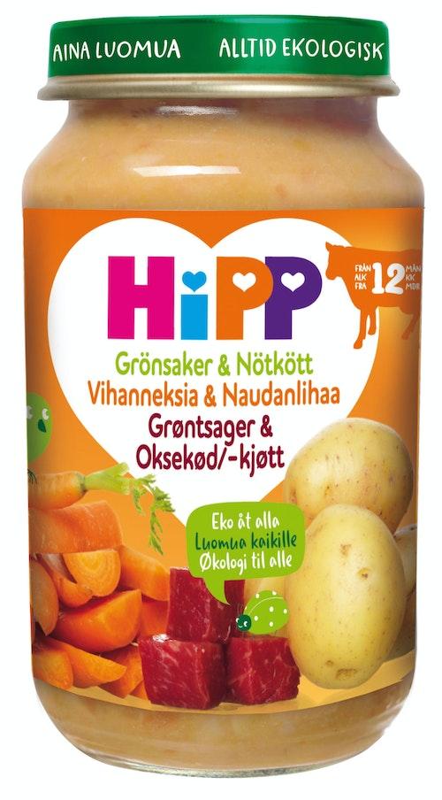 Hipp Grønnsaker & Oksekjøtt Fra 12 mnd, 190 g