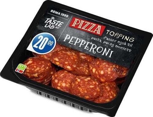 REMA 1000 Pepperoni Topping Taste Lab, 80 g