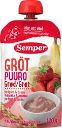 Semper Grøt Jordbær & Banan Fra 6 mnd, 120 g