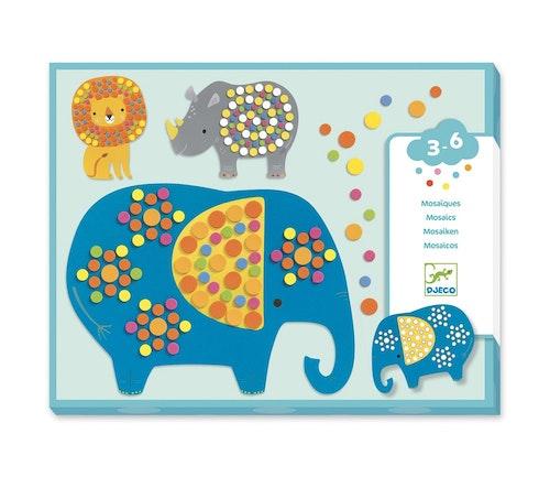 Djeco Mosaikksett med jungeldyr 1 stk