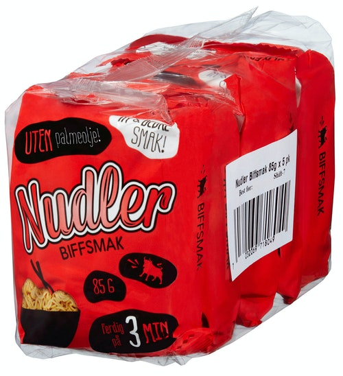 REMA 1000 Nudler med Biffsmak 5stk x 85g, 425 g