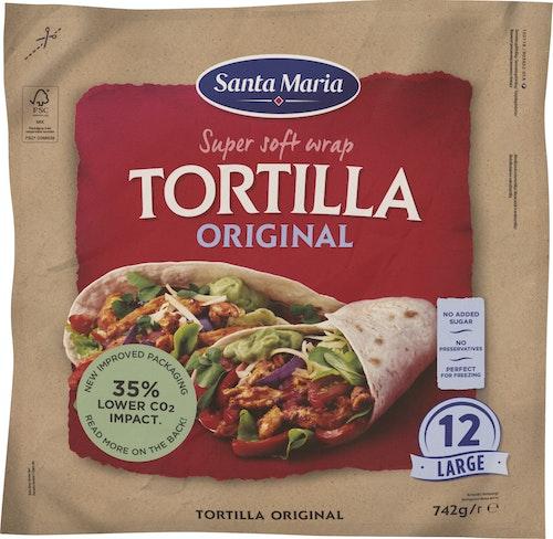 Santa Maria Tex Mex Tortilla Original 12 stk large, 742 g