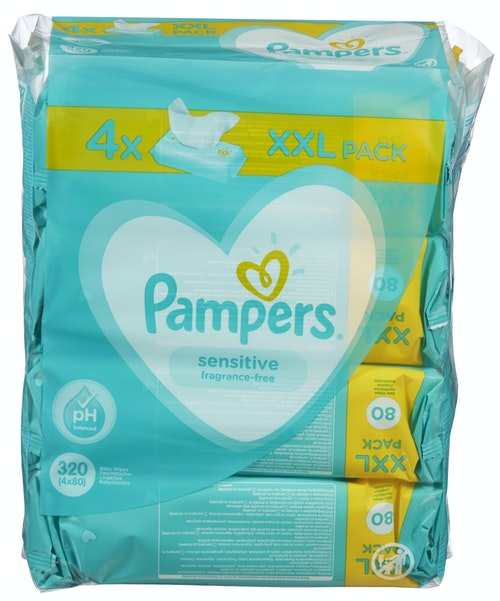 Pampers Pampers Sensitive Wipes 4 pk, 320 stk