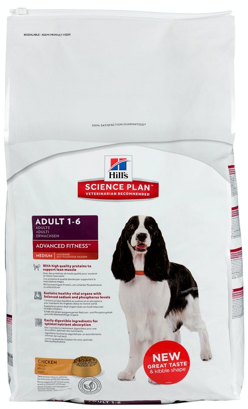 Hills Science Plan Canine Adult Advanced Fitness Medium with Chicken 12 kg