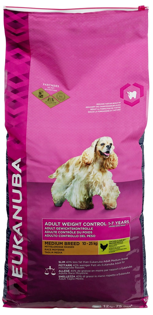 Eukanuba Adult Weight Control 1-7 Years Medium Breed 12 kg