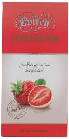 Løiten Fruktsjokolade Jordbær Hvit Sjokolade, 110 g