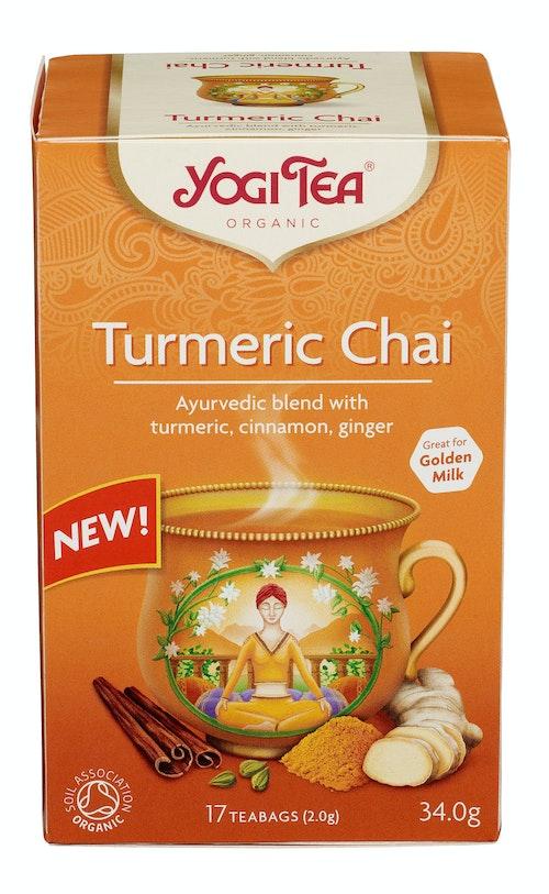 Yogi Yogi Tea Turmeric Chai Økologisk, 17 stk