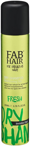 Fab Hair Dry Shampo Invisible Clear 200 ml