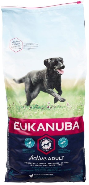 Eukanuba Active Adult Large Breed Kylling, 12 kg