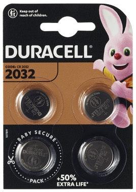 Duracell Batteri 2032 3V Lithium 4 stk
