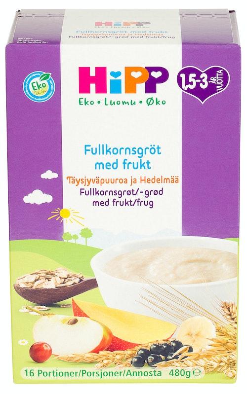 Hipp Fullkornsgrøt med Frukt & Bær Fra 1,5 år, 16 porsjoner, 480 g