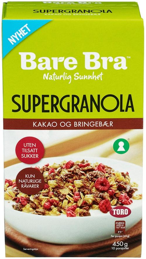 Bare Bra Supergranola Kakao & Bær 450 g