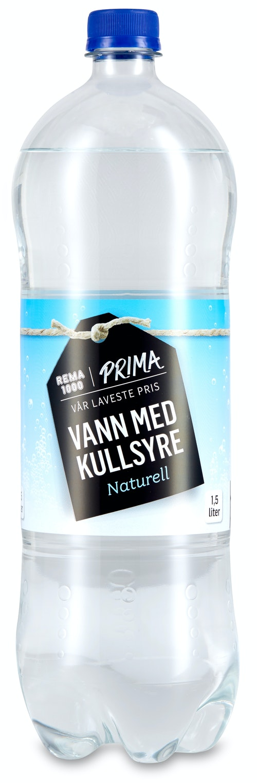 REMA 1000 Prima Vann med Kullsyre Naturell 1,5 l