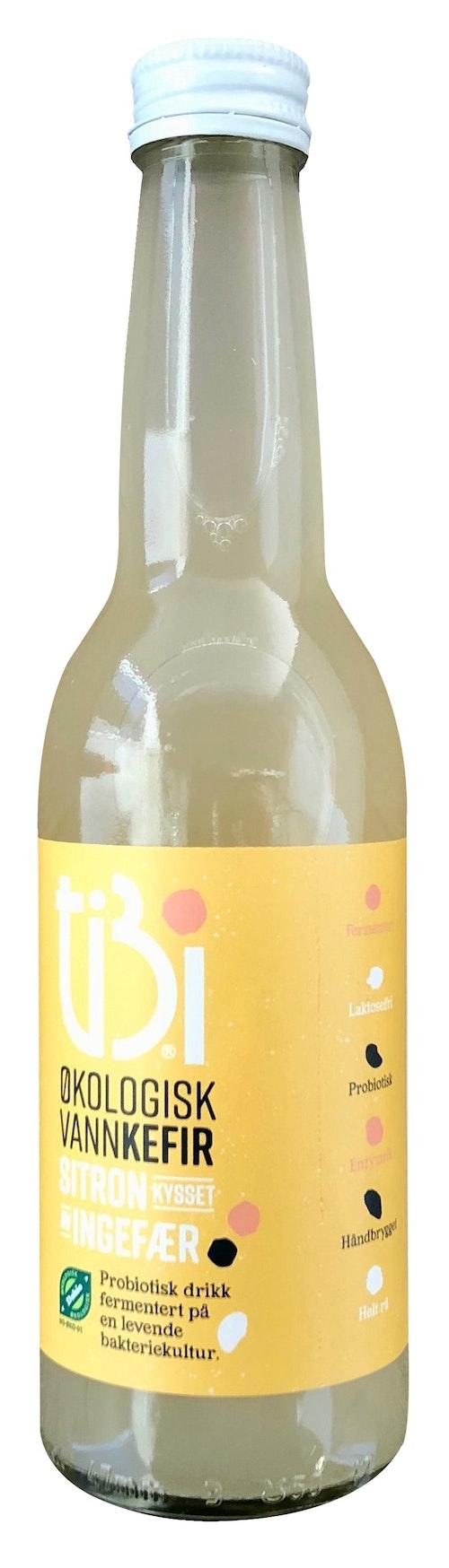 Tibi Vannkefir Vannkefir Sitron og Ingefær 330 ml