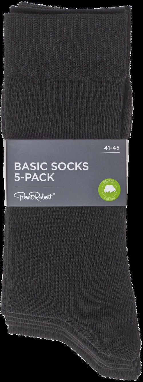 Pierre Robert Basic Socks Black, Str. 41-45, 5 par