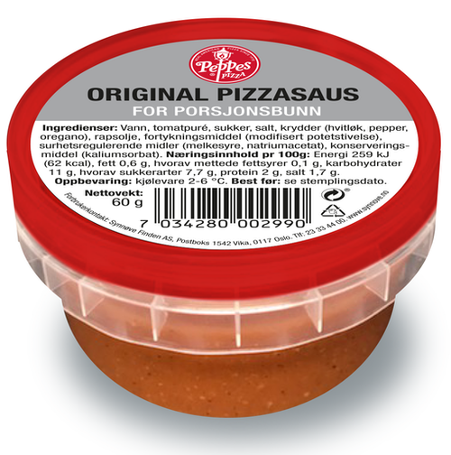 Peppes Pizza Peppes Original Pizzasaus 60 g