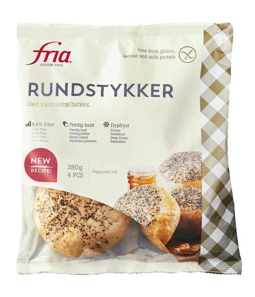Fria Rundstykker med Valmuefrø Glutenfri, 280 g
