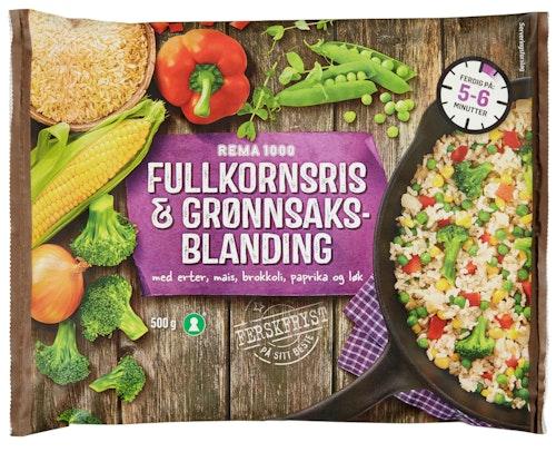 REMA 1000 Fullkornsris & Grønnsaker 500 g