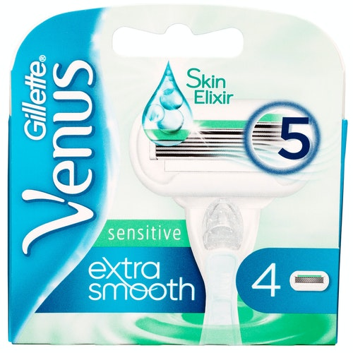 Venus Barberblad Venus Extra Smooth Sensitive 4 stk