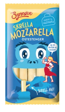 Synnøve Skrella Mozzarella Ostestrenger, 100 g