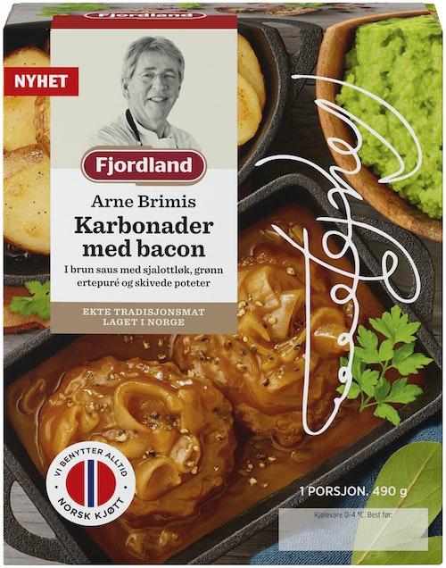 Fjordland Brimis Karbonader Med Bacon & Brun saus, 490 g
