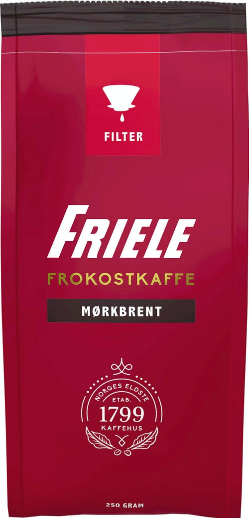 Friele Friele Frokostkaffe Mørkbrent Filtermalt, 250 g