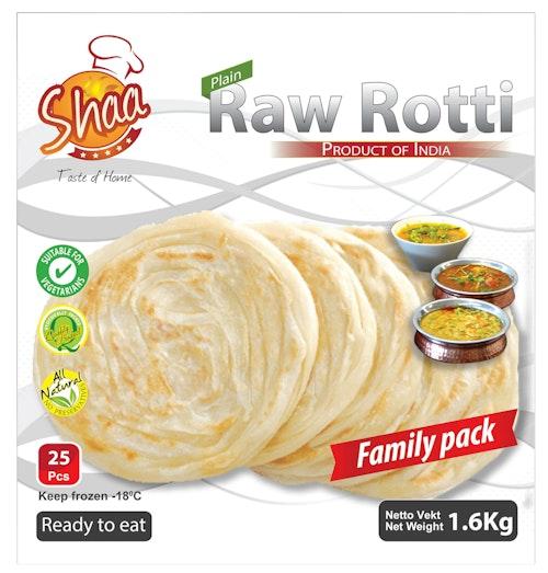 Rå Rotti brød 25 stk, 1,6 kg